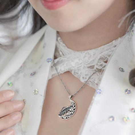 雨情華月オリジナルネックレス『月光華』